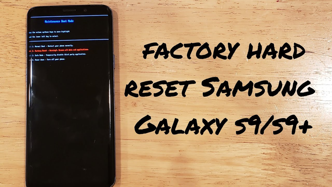 How to factory hard reset a Samsung Galaxy s25/s25+