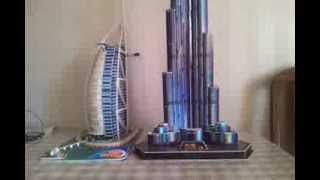 Burj Al Arab and Burj Khalifa 3D model WWW.HOP.AZ