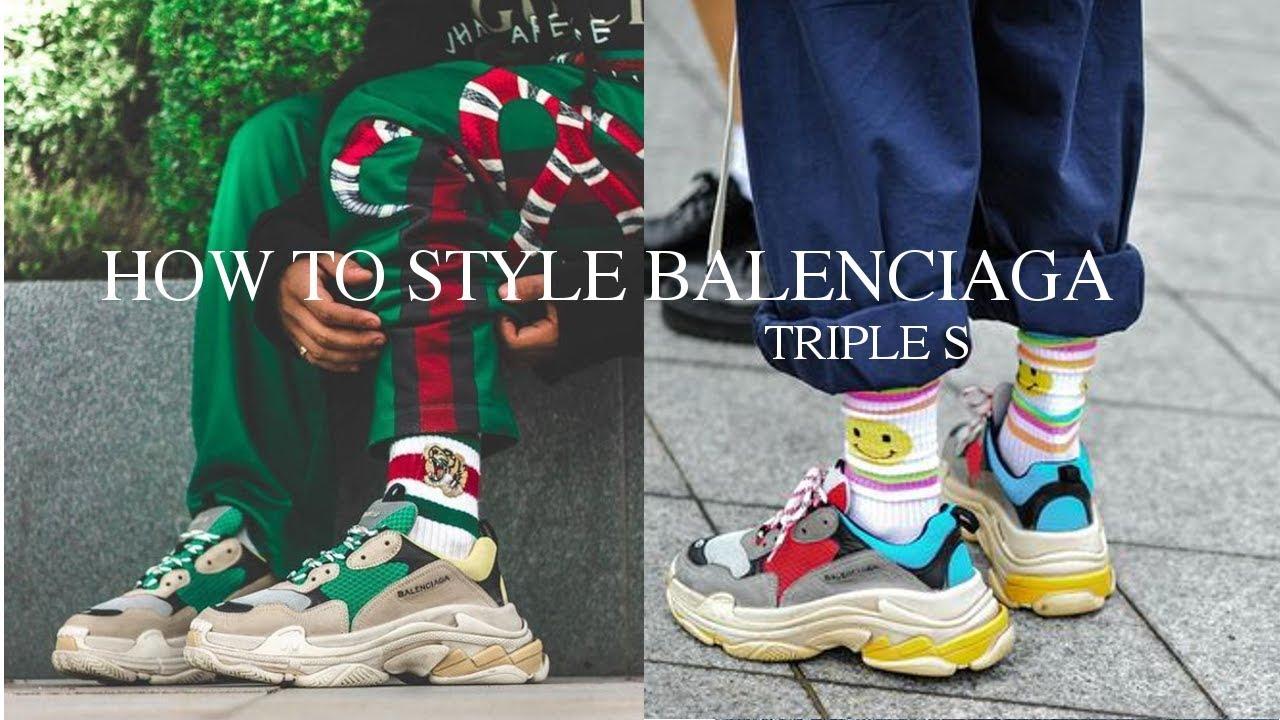 How To Style || Balenciaga Triple S