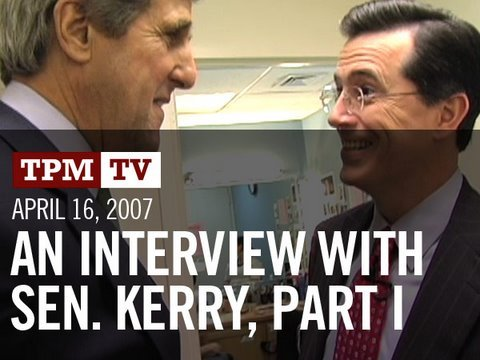 TPMtv: An Interview with Senator John Kerry, Part I