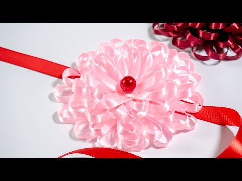 Make Easy Flower with Ribbon: DIY Ideas   HandiWorks #122
