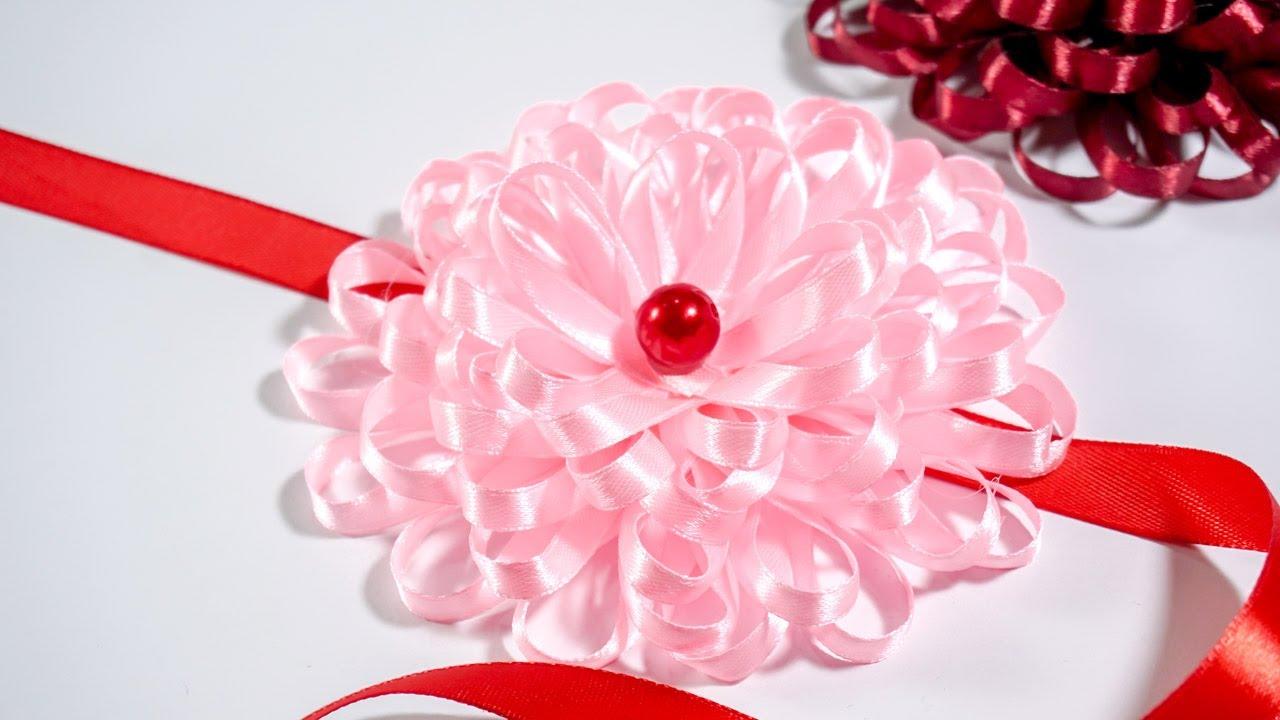Make Easy Flower With Ribbon Diy Ideas Handiworks 122 Youtube