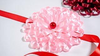 Make Easy Flower with Ribbon: DIY Ideas | HandiWorks #122