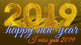 Happy new year 2019 i miss you 2019