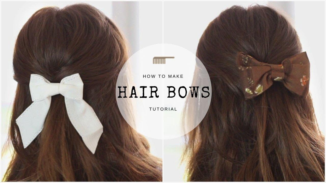 Make Your Own Cute Hair Bow Clips  DIY