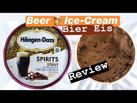 🍺 BEER Ice Cream From Häagen Dazs: Stout Chocolate Pretzel Crunch - Review