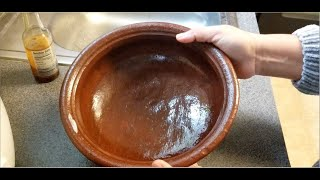 clay pot cooking youtube HOW TO SEASON A NEW UNGLAZED CLAY COOKING POT BEFORE FIRST USE  2K UHD