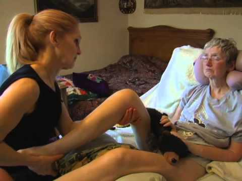 FIRST LEG - PALLIATIVE MASSAGE - CHRONIC ILLNESS (ALS/MS) - MARY - NELSON BC