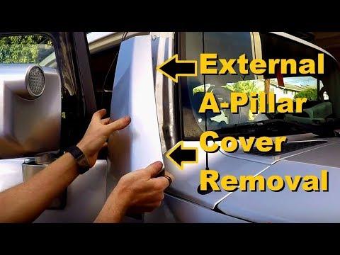 FJ Cruiser A-Pillar Cover Removal