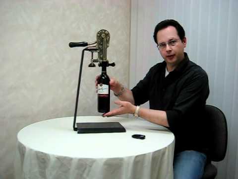 granite base wine opener demonstration recork youtube. Black Bedroom Furniture Sets. Home Design Ideas