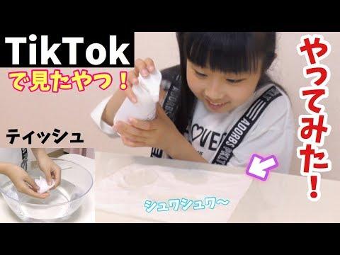 またまたTikTokのヤツ〜やってみた!ティッシュに泡で何を作ったのか!【第3弾】