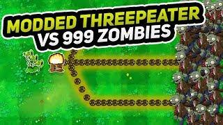 Modded Threepeater vs 999 Zombies   Plants vs Zombies Modded