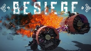 Besiege Best Creations - Pod Racer Crashes, Shocking Christmas Presents and More! - Besiege Gameplay