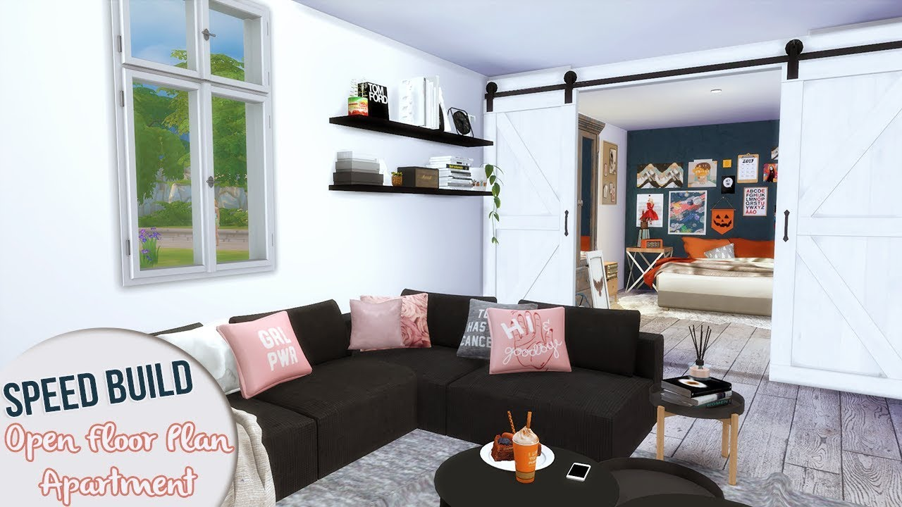 OPEN FLOOR PLAN APARTMENT | The Sims 4