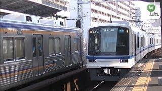 泉北高速鉄道5000系(5501)準急 新今宮駅到着【南海高野線】 Senboku rapid railway series5000