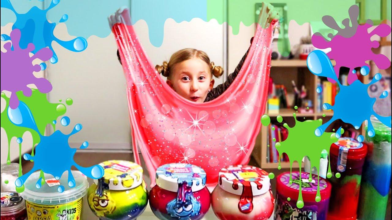Sonjina SLIME Kolekcija ✨ Otvaramo i Miksamo SLAJMOVE! 1. Deo / Our Slime Collection 1