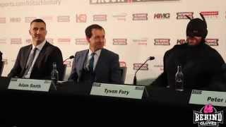 пресс конференция Вл. Кличко и Тайсона Фьюри Бэтман против Джокера