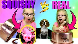 SQUISHY vs REAL FOOD CHALLENGE!!!