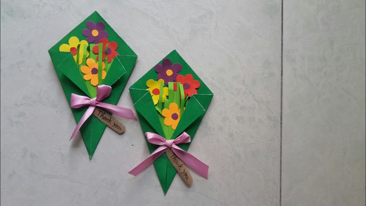 Easy paper flower bouquet making idea for kids youtube easy paper flower bouquet making idea for kids aloha crafts izmirmasajfo