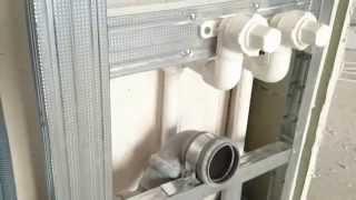 кронштейн для водорозетки (фитинг) на стене из гипсокартона. Polypropylene fitting.(кронштейн для водорозетки (фитинг) на стене из гипсокартона. Мощное крепление для фитинга ( водорозетка..., 2014-12-25T18:40:13.000Z)
