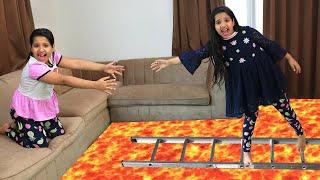 شفا أنقذت تؤامتها !  Floor is lava Shafa help Soso