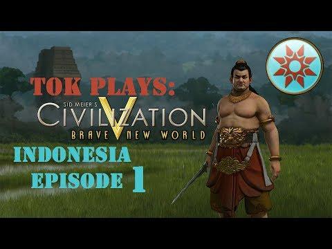 Tok plays Civ 5: BNW - Indonesia ep. 1 - Single City Race