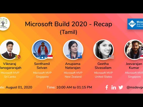Microsoft Build 2020 Recap Tamil