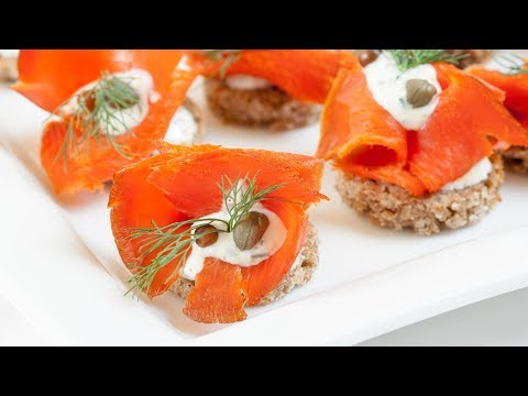 How To Make Smoked Salmon Canapés - Smoked Salmon Canapés Recipe