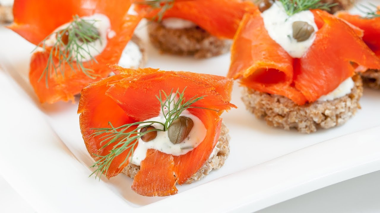 Canapés Show How To Make Smoked Salmon Canapés Smoked Salmon Canapés Recipe