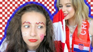 PRIPREMI SE ZA SVJETSKO: Najbolji navijački makeup! | SaamoPetraa & Gloria Berger