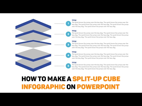 How to Make a Split-Up Cube Infographic on Powerpoint