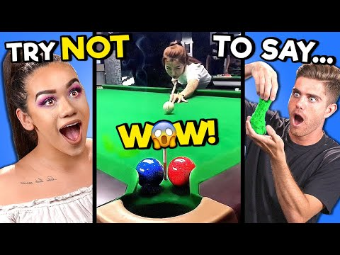 Adults React To TRY NOT TO SAY WOW Challenge