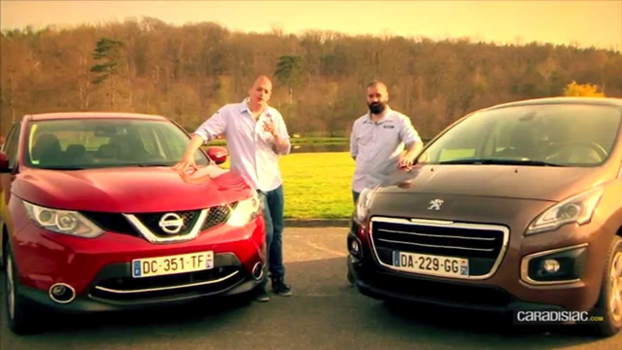 comparatif nissan qashqa vs peugeot 3008 youtube. Black Bedroom Furniture Sets. Home Design Ideas
