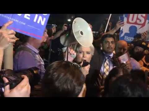 Jill Stein outside Democratic National Convention, Philadelphia 7/26/16 (Videographer Elsa Rassbach)