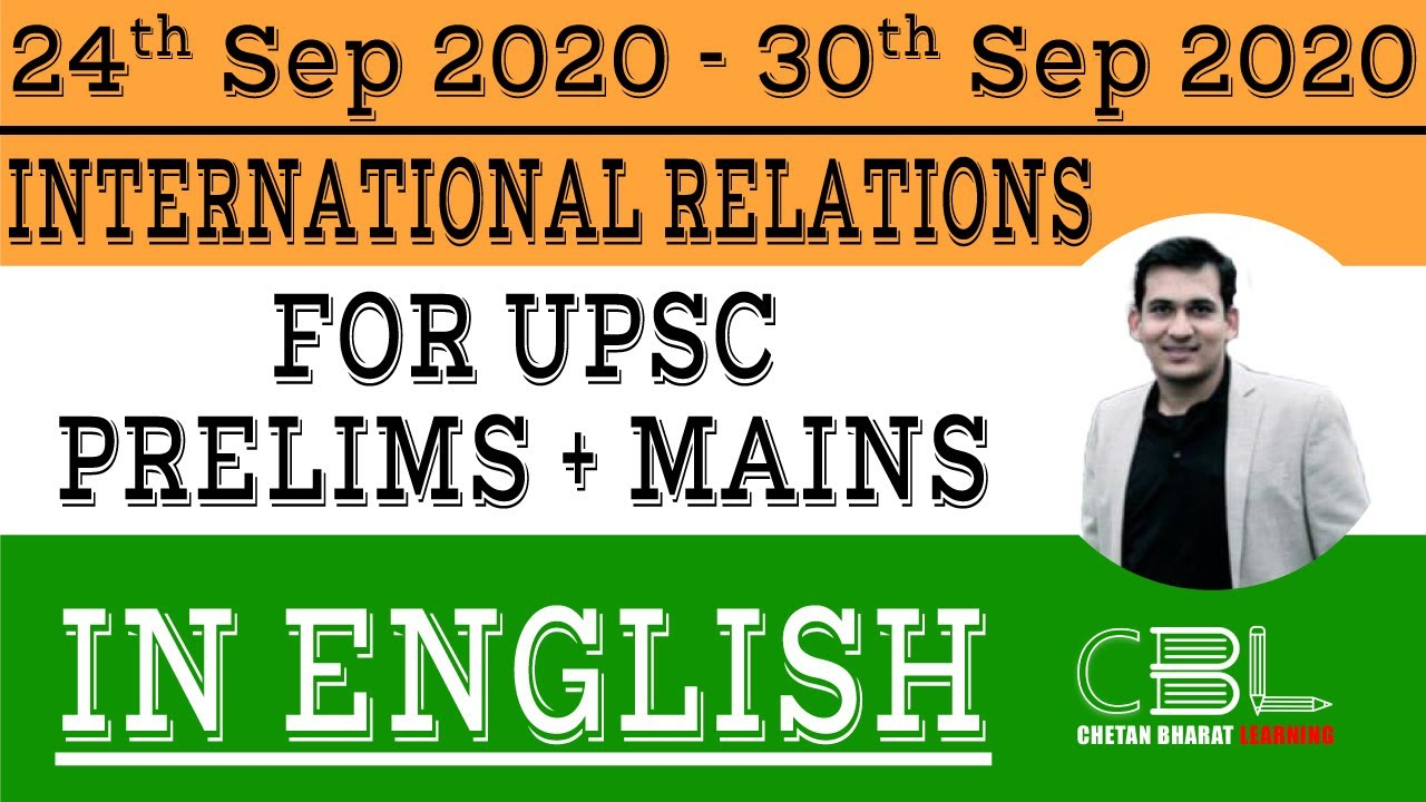 Current Affairs International Relations 24 Sep - 30 Sep 2020 In English