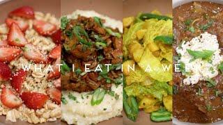WHAT I EAT IN A WEEK VEGAN | Lasagna Soup, Shrimp & Grits, Brown Sugar Oatmilk Latte & More! #026