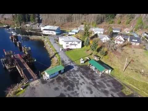 A quick flight over Ocean Falls, BC - November 2016