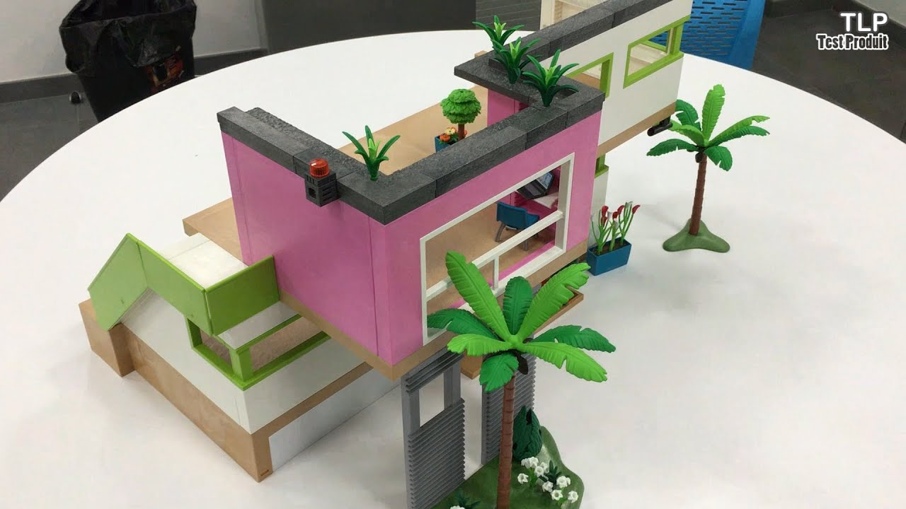 construction de la maison moderne playmobil n 5574 fran ais youtube. Black Bedroom Furniture Sets. Home Design Ideas