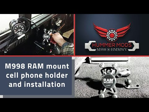 M998 Hmmwv Humvee Ram Mount Cell Phone Holder And Installation
