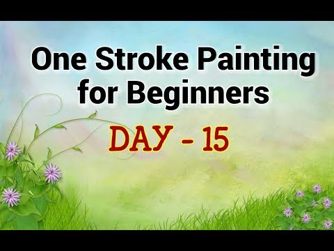 One Stroke Painting for Beginners - Day 15 | A Flower Technique