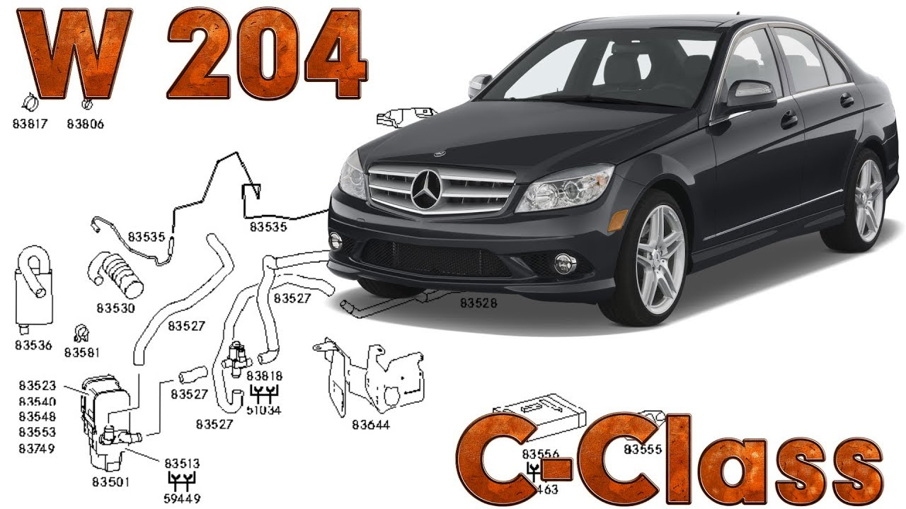 C Class W204 Fault Locations Climate Control Youtube