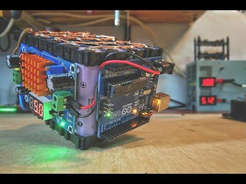 DIY 3,7-40V lithium battery cube