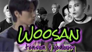 woosan x wooyoung & san    tension & jealousy