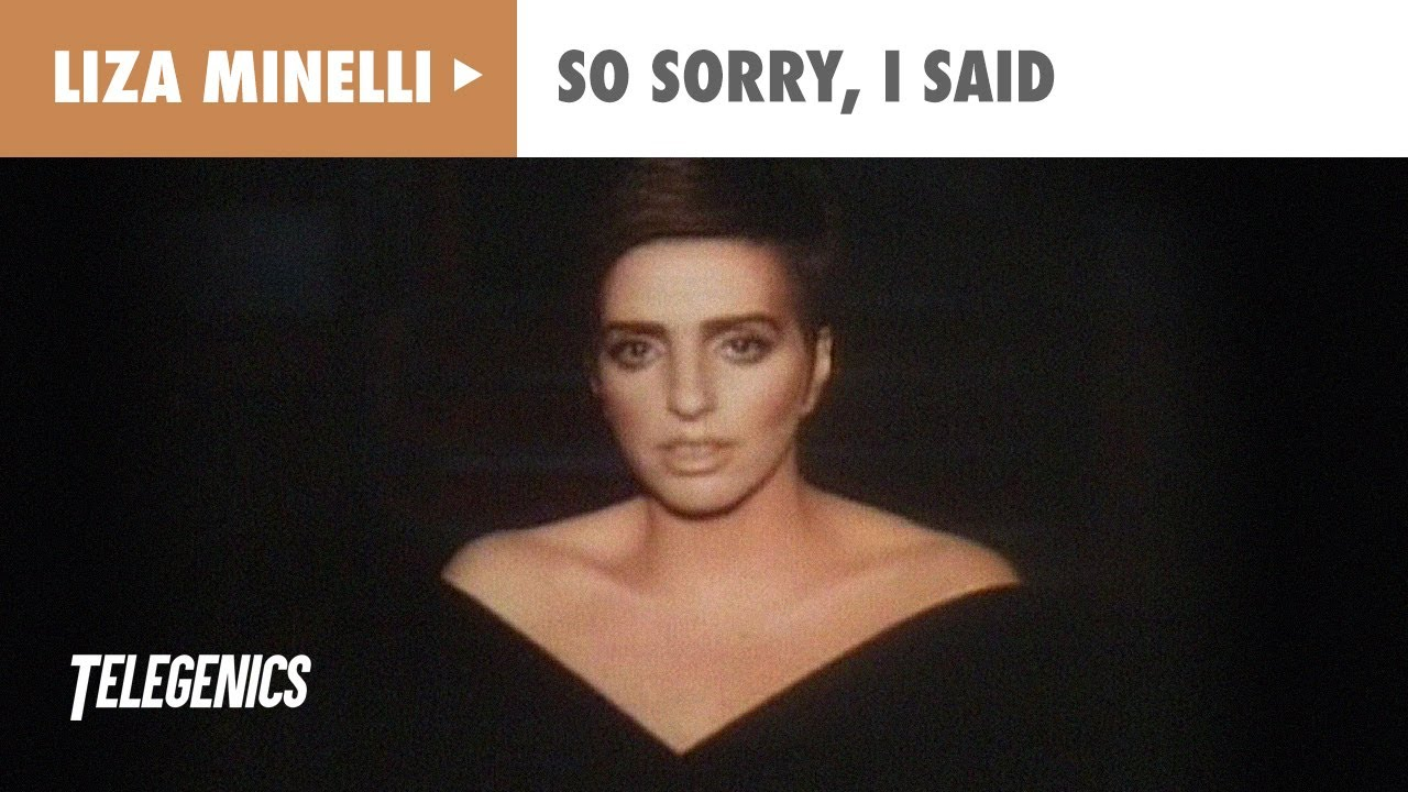 5b6239c45 Liza Minelli - So Sorry