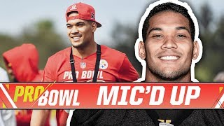 James Conner Mic'd Up at Pro Bowl Practice   Pittsburgh Steelers