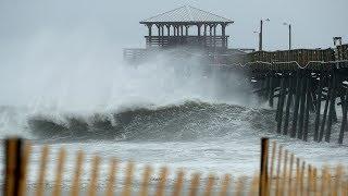 DIREKTE: Her herjer orkanen Florence