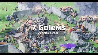 CRAZY 6 GOLEMS AVALANCHE ATTACK TH9 CLASH OF CLANS