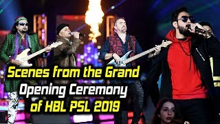 Scenes from the Grand Opening Ceremony of HBL PSL 2019