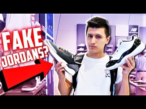 bcc4b7849e2 Watch SneakerTalk - FAKE AIR JORDANS SOLD AT THE MALL? EXPOSED!?
