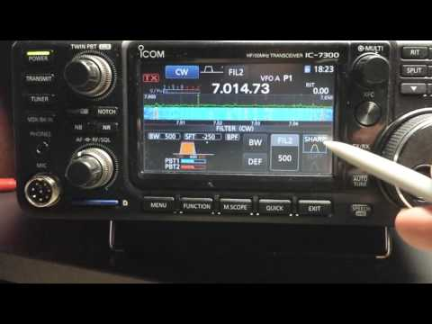 IC-7300 Passband Tuning Adjustment for CW N4LQ